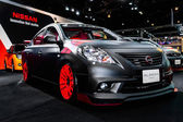 Nissan Almera on display at Bangkok International Auto Salon 2013. — Stock Photo
