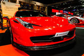 Ferrari tentoongesteld in bangkok internationale auto salon van 2013. — Stockfoto