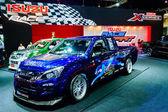 Isuzu d-max en exhibición en el salón del automóvil internacional de bangkok 2013. — Foto de Stock