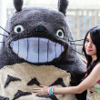 Stock Photo: Cosplayer as characters Totoro from My Neighbor Totoro in JapFestin Bangkok 2013.