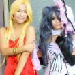 Stock Photo: Unidentified Japanese anime cosplay pose in JapFestin Bangkok 2013