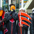 Stock Photo: Cosplayer as characters Akatsuki from Naruto in JapFestin Bangkok 2013.