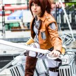 Stock Photo: Cosplayer as characters SashBlouse from Attack on Titin JapFestin Bangkok 2013.