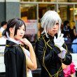An unidentified Japanese anime cosplay pose in Japan Festa in Bangkok 2013 — Stock Photo