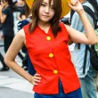 Stock Photo: Cosplayer as characters Monkey D. Luffy from One Piece in JapFestin Bangkok 2013.