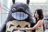 Cosplayer as characters Totoro from My Neighbor Totoro in Japan Festa in Bangkok 2013. — Stock Photo