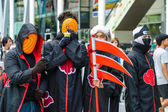 Cosplayer as characters Akatsuki from Naruto in Japan Festa in Bangkok 2013. — Stock Photo