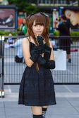 Cosplayer as characters Misa Amane from Death Note in Japan Festa in Bangkok 2013. — Stock Photo