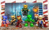 BANGKOK - MAY 10 : The Bear Vengers Customize by hobbymax in Tha — Stock Photo