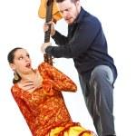 Flamenco couple quarrelling — Stock Photo #11269233