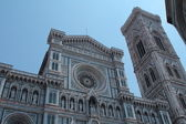 Front side of the duomo in Florence — Stock fotografie