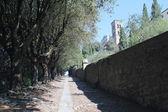 Via Crucis in Cortona, Italy — Stock Photo