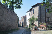 Little Italian street in Cortona — Stock Photo