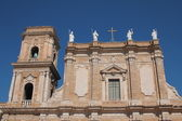 Front side of the Cathedral of Brindisi — Stock Photo