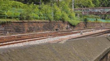 超越另一个火车 — 图库视频影像