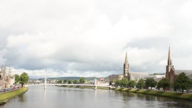 The river in Inverness — 图库视频影像