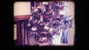 Vánoční strom vinobraní 8 mm — Stock video