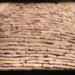 Stock Video: Vintage 8mm. Roof of trullo