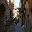 Stock Photo: Narrow street in Italivillage