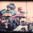 Stock Video: Vintage 8mm. Large parade float
