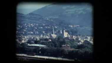 Vintage 8mm. View of Brixen — Stock Video