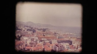 Vintage 8mm. View of small Italian town — ストックビデオ
