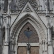 Stock Photo: Main door entrance of Basilicof national vow, Quito