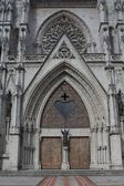 Main door entrance of the Basilica of the national vow, Quito — Stock Photo