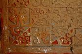 Painted adobe wall in Huaca de la Luna — Photo