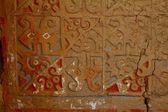 Painted adobe wall in Huaca de la Luna — Stok fotoğraf