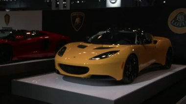 Supercars at the New York International Auto Show — Stock Video