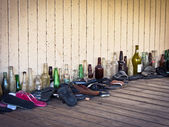 Bottles and Shoes — Stock Photo