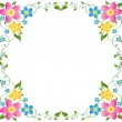 Floral Border — Stock Vector