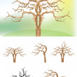 Vector illustration trees — Stock Vector