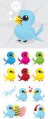 Renkli kuşlar — Stok Vektör