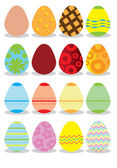 Colorful Easter Eggs. — Stock Vector