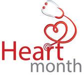 Heart Month — Vector de stock