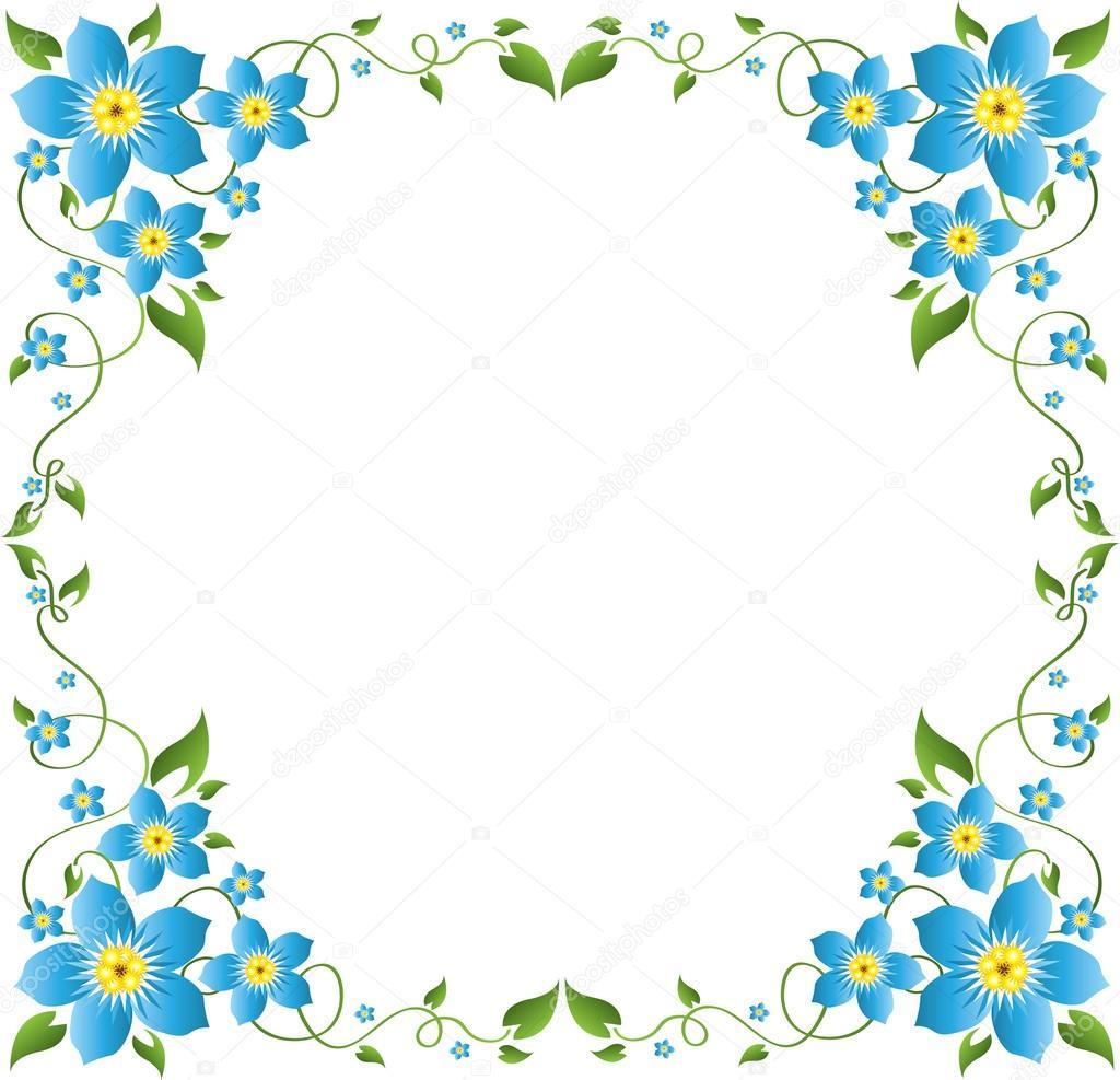 花卉边框 — 图库矢量图像08