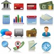 Business and bank icons — Stock Vector