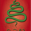 Christmas snake,  new Year 2013 — Stock Vector