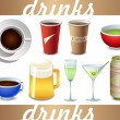 Vector drinks icon — Stock Vector