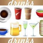 Vector drinks icon — Stock Vector