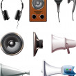 Royalty-Free Stock Vector Image: Speakers icon