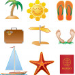 Summer icons — Stock Vector #26675115