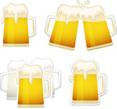 Beer mugs set — Stock Vector