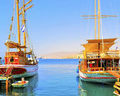 Passenger gulets in Eilat — Stock Photo