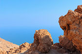 Rock formation on a background of sea and sky — Stock Photo