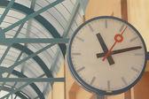 Clocks at the station — Stock Photo
