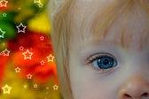 Beautiful children's eyes — Stock Photo
