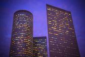 Natt skyskrapor — Stockfoto